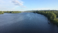 The mighty Dnieper, from the train on the way to Hydropark.