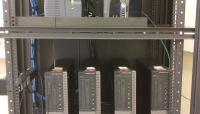 The server rack is the new home for our CPU cluster