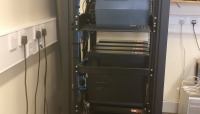 Front view of the CPU cluster rack