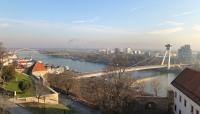 View on the Danube from Bratislavský hrad.
