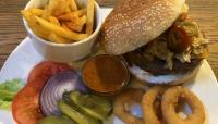 Tex Mex Burger at BeAbout.