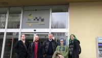 Iain, Rui, Philip, Angie, and Tina at Comenius University.