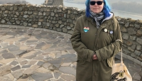 Angie at Devínsky hrad.