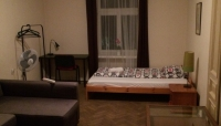 One of the four massive bedrooms in the apartment.
